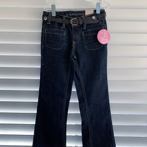 Arizona Skinny Flare Adjustable Waist Jeans,